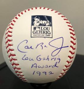 Lou Gehrig Day 2021 LG4 Rawlings Cal Ripken Jr BAS Signed Auto MLB Baseball
