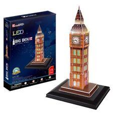 CubicFun London Big Ben 3d Puzzle With Lights for Kids 28pieces