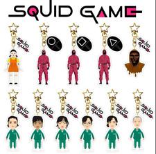 TV Squid Game Figure 3D Keychain PVC Triangle 067 456 001 Cartoon Keyring Gift