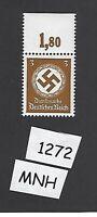 #1272  MNH Postage stamp / WWII emblem / PF03 1942 / Third Reich / Free holder
