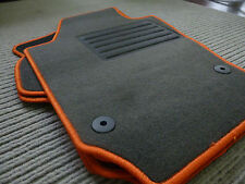 Original Lengenfelder Fußmatten für Seat Ibiza 6J 6P FR Cupra + Rand ORANGE +NEU