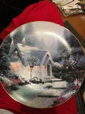 Thomas Kinkade Cedar Nook Cottage Vintage Plate 1991 No 11479A