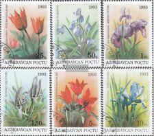 Aserbaidschan 91-96 (kompl.Ausg.) gestempelt 1993 Einheimische Flora