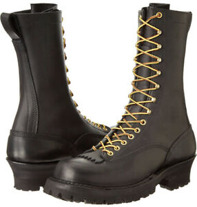 New in Box Whites Smokejumper Black Boot Lace To Toe 400VLTT USA Same Day Ship!
