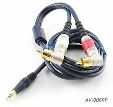 6ft 3.5mm Stereo Male to Dual RCA Male Right-Angle Plug Cable - AV-006RP