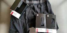 Lululemon No Boxer 3 Pack S Small Blk Black Long One Tall Underwear 7.5 Inseam