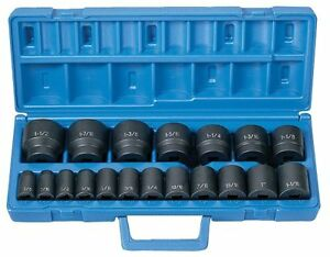 Grey Pneumatic 1319 19-piece 1/2 In. Drive Fractional Sae Standard Length Master