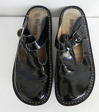 Alegria Clog Leather Upper/Lining Black Size 40 (US9)