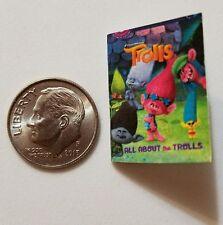Miniature Dollhouse Disney book Barbie 1/12 Scale Trolls Poppie Branch Movie  T
