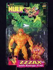 Incredible Hulk Smash and Crash ZZZAX Action Figure COMPLETE Marvel Toy Biz 1997