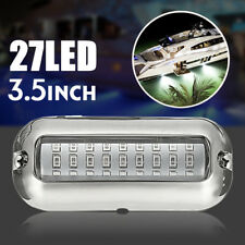 3.5'' 27 LED 50W Underwater Pontoon Boat Transom Lights Steel Marine Boat White