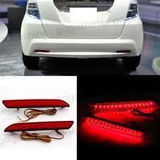 Car LED brake Lamp Reflector red lens rear bumper light for Honda FIT 2010-2013