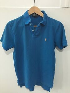 Ralph Lauren Polo Shirt Small Deep Turquoise Blue