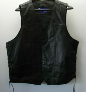 leather riding vest made by vance size large