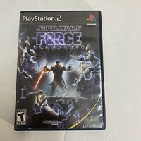 Star Wars The Force Unleashed Sony PlayStation 2 2008 CIB Complete Ps2 Free Ship