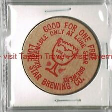 1970s TEXAS San Antonio LONE STAR BEER 1½ inch Wooden Nickel
