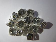 A Grade Rhinestone Silver Metal base Crystal Clear Glass Material Stone 7mm 20pc