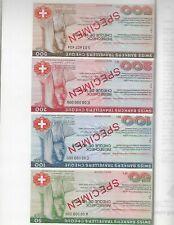 SWITZERLAND SPECIMEN TRAVELERS CHECKS IN BANK FOLDER  NICE MINT