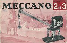 Catalogue Meccano N° 2 et 3 catalogo Katalog
