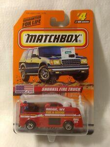 Matchbox USA Snorkel Fire Truck #4 of 100 Mattel 1:64 Scale Diecast mb1749