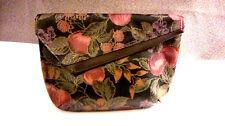 SALE! Clutch Handbag Black Multi Floral Back Slip Pocket Pretty Shape GUC
