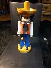 Cowboy Nutcracker Mexican German Flergestellt Ddr Vtg Htf wood Christmas Texas