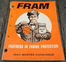 HTF 1964 Fram Canada Master Catalogue Air Oil Fuel Filters Stratford, Ontario