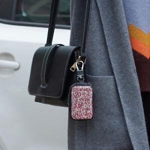 PU Bling Rhinestone Car Key Keychain Wallet Case Pouch Purse Keys Bag For Lady