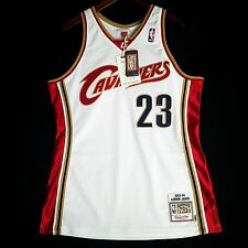 100 Authentic Lebron James Mitchell & Ness Cavaliers Home Jersey Mens Size 44 L