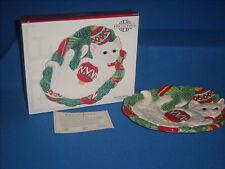 Fitz Floyd Yuletide Kitten Canape Ornament Plate 2003