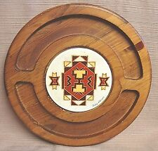 Southwest VINTAGE RETRO Wood & Tile CHEESE & CRACKER BOARD by JERRY ABRAMS - US