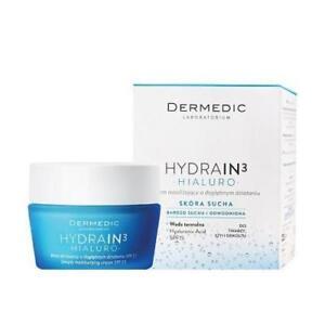 Dermedic HYDRAIN 3 - HIALURO DRY SKIN VERY DEEPLY MOISTURISING CREAM SPF-15 50g