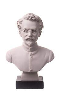 Soviet Russian USSR Communist Leon Trotsky Marble Bust Statue Sculpture 6.3''