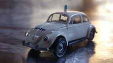 ** Brekina 25202 VW Beetle White Police Vehicle 1:87 HO Scale