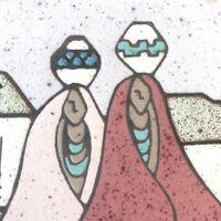 "1990 Tu-Oti Earthtones Southwest Decorative Ceramic Art Tile - 6"" x 6"""