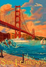 San Francisco California Travel Poster/Art Print - California Poster 11x16