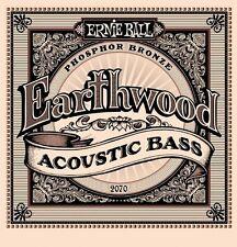 Ernie Ball 2070 Earthwood Acoustic Bass Guitar Phosphor Bronze Strings Free Ship