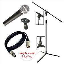 Nuevo Pulso pm580 Micrófono vocal dinámico con 4,5 m de cable, Boom Mic Stand Y Clip