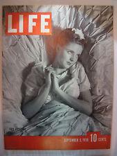 LIFE MAGAZINE SEPTEMBER 5, 1938 FALL FASHIONS
