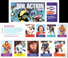 1974-75 ACME NHL Action Players Stamps Unopened Strip 9