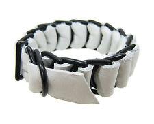 NEW DAVID GALAN White Military Leather Bracelet -70% OFF