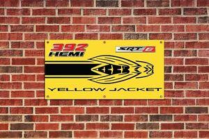 Dodge Challenger Yellow Jacket Garage Shop Banner Tribute 1