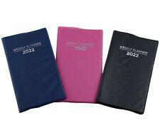 2022 Weekly Planner Notebook Agenda Vinyl Cover Pocket Size Choose Color