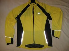 Bellwether Cycling Jacket Windbreaker High Visibility Yellow Adult Medium Zip