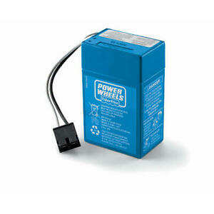Power Wheels 6v Volt Blue Battery: 00801-1457, Also Fits 00801-0336, 00801-1900