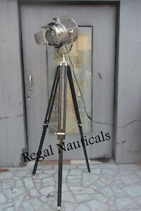 Decorative Floor Lamp Vintage Black Tripod Light Searchlight Retro Spotlight