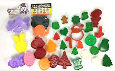 Holiday Plastic 43 Cookie Cutter Lot Christmas Easter Halloween Wilton Hallmark
