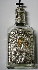 Botella de agua bendita para 200ml plata icono Madonna María holy water bottle Silver