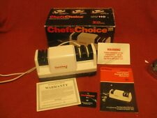 CHEF'S CHOICE ELECTRIC KNIFE SHARPENER DIAMOND HONE 3 STAGE MODEL 110