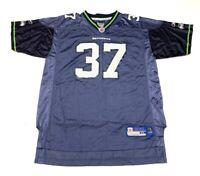 Seattle Seahawks Shaun Alexander 37 NFL Equipment Reebok Youth Jersey Blue XL